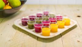Pots sauces, vinaigrettes et échantillons