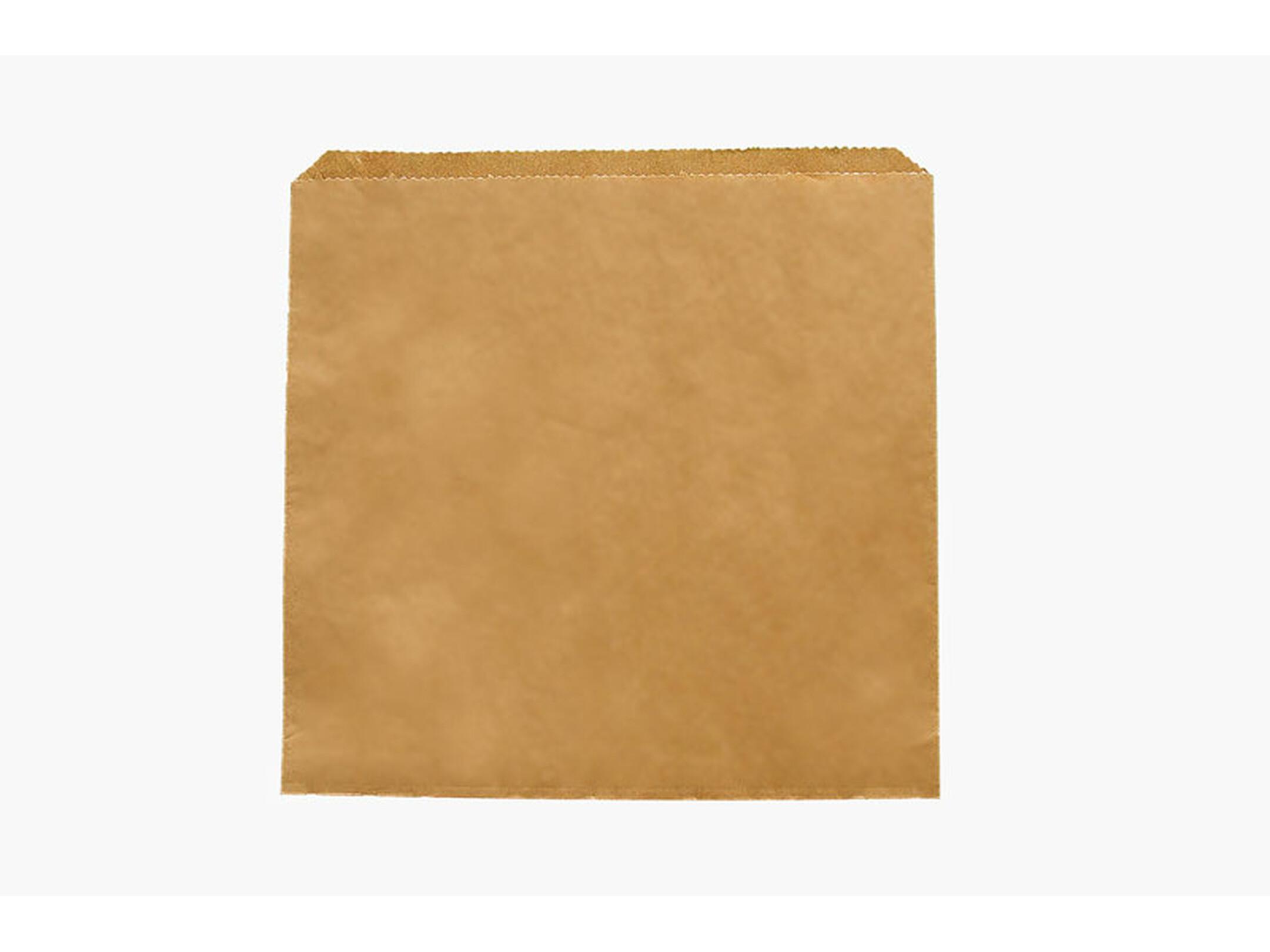 sac papier à fond plat brun 30 x 30 cm