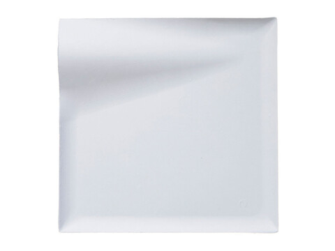 Assiette biodégradable en pulpe WAVE 20 x 20 x 2 cm